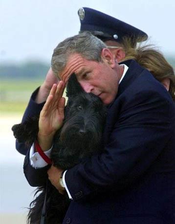 Bush salutes