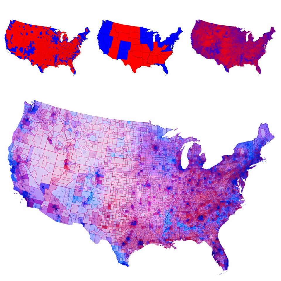 Lies Com The 2012 Election Map Adjusted For Population